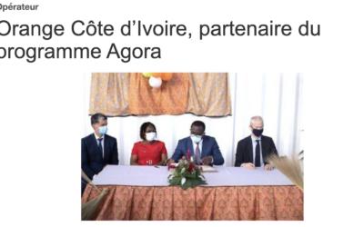 Orange Côte d'Ivoire, partenaire du programme Agora