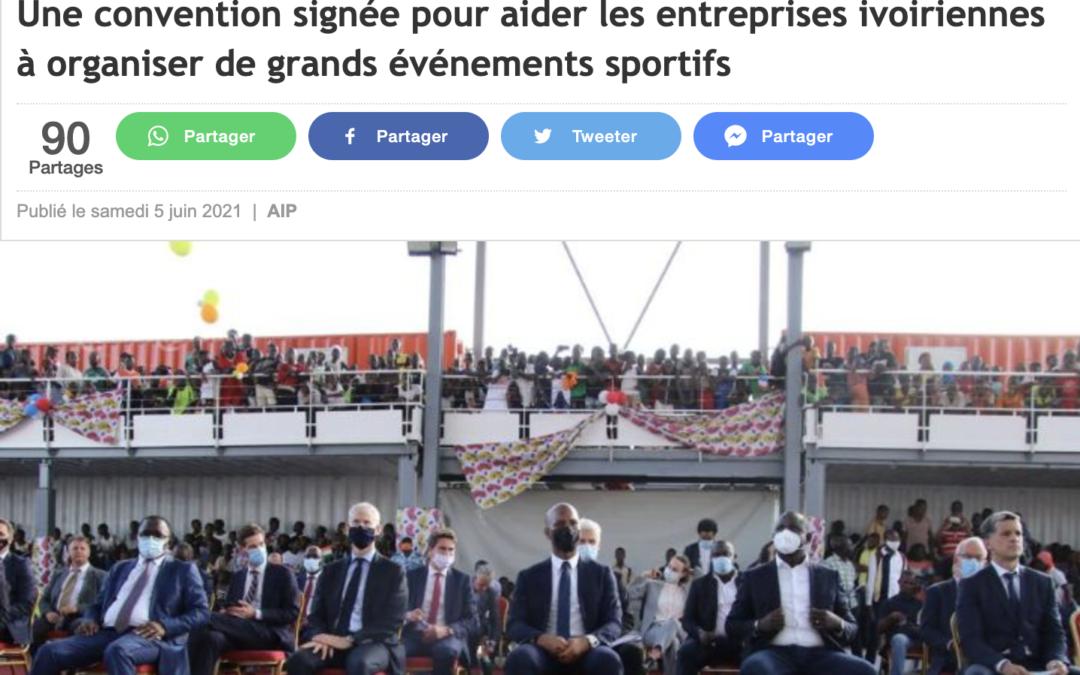 Une convention signée pour aider les entreprises ivoiriennes à organiser de grands événements sportifs